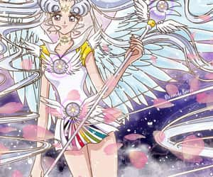 sailor moon, sailor cosmos, and せーらーむーん image