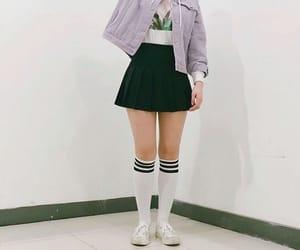 colegial, korean girl, and outfit image