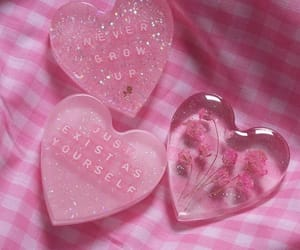pink, heart, and soft image