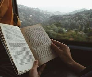 books, train, and reading image