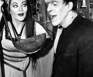 b&w, Lily Munster, and wife image