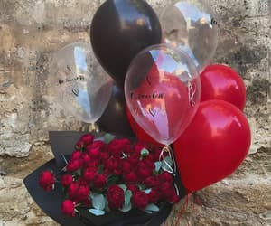 balloons and flowers image