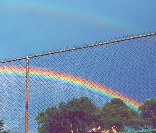 arc-en-ciel, rain, and regenboog image