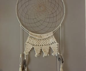 dreamcatcher, feather, and white image