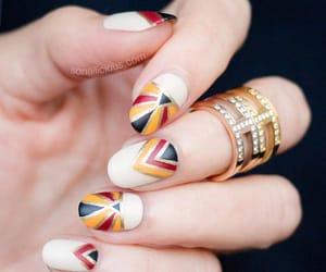 geometric, nail polish, and manicure image