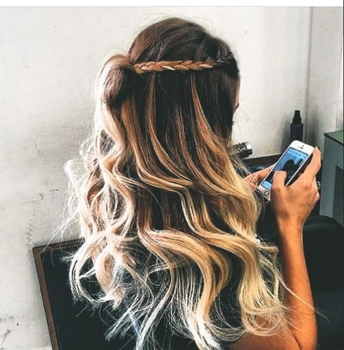 article, braids, and bun image
