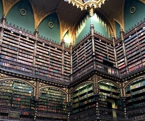 aesthetic, beautiful, and library image