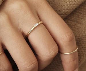 beige, rings, and gold image