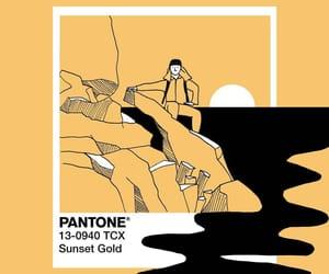 pantone and sunset gold image