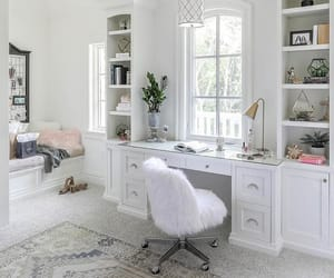 chair, desk, and home image