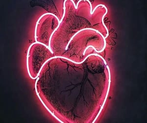 heart, neon lights, and aesthetic image