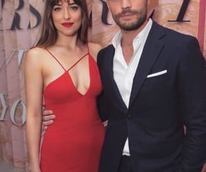 dakota johnson, couple, and Jamie Dornan image