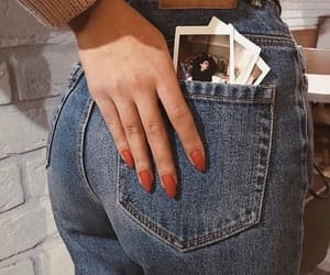 jeans, nails, and photography image
