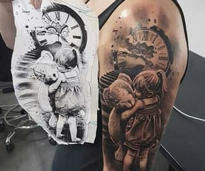 family, girl, and tattooed image