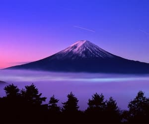 japan, mountain, and pink image
