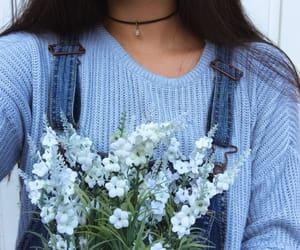 blue, quotes, and blue flowers image