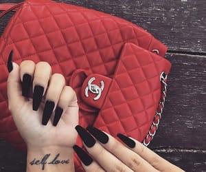 bag, nails, and black image