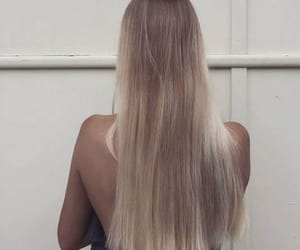 blonde, gold, and long hair image