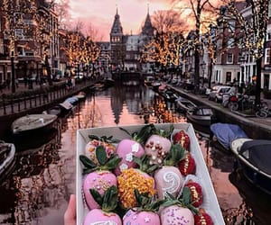 food, amsterdam, and strawberry image
