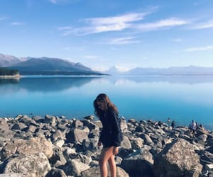 blue, girl, and lago image