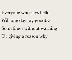 goodbye, hello, and let him go image