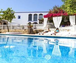 holidays, swimming pool, and travel image