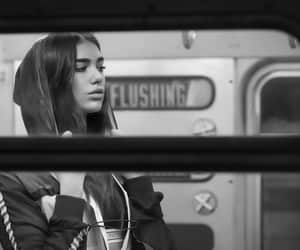 dua lipa, black and white, and singer image