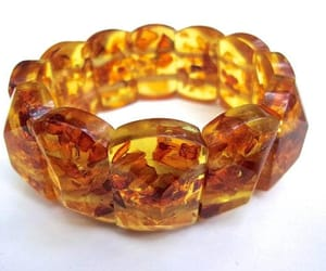 amber, stretch, and yellow bracelet image