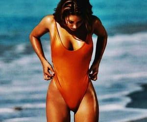 bikini, fashion, and orange image