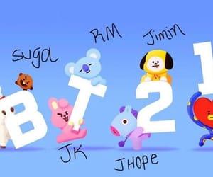 bt21, rj, and tata image