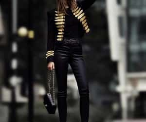 fashion, black, and mode image