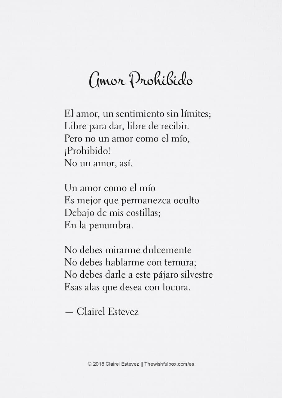Amor Prohibido Poemas Poesías Frases Escritos