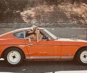 80s, car, and orange image