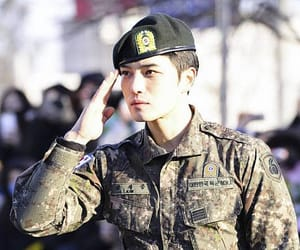 military, idol, and korean image