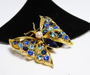 etsy, blue rhinestone, and thejewelseeker image
