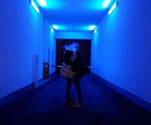couple, lights, and ulzzang blue image