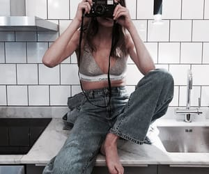 body, denim, and fashion image