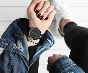 nails, watch, and style image