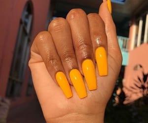 nails, yellow, and orange image