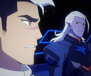 shiro, Voltron, and black lion image