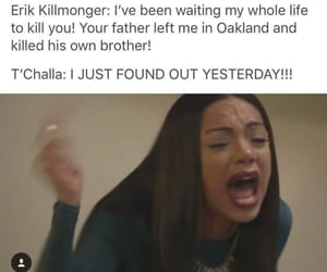 black panther, funny, and meme image