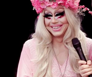 drag, flowers, and gif image