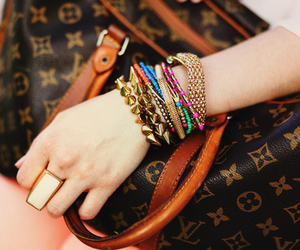 fashion, bracelet, and bag image