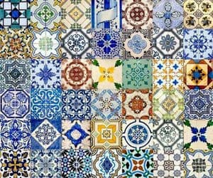 tiles, art, and blue image