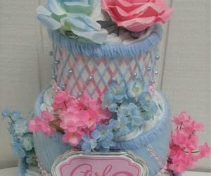 pink baby shower, gender reveal party, and blue baby shower image