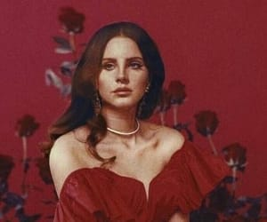 red, lana del rey, and rose image