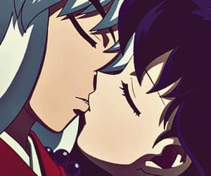 anime, kiss, and inuyasha image