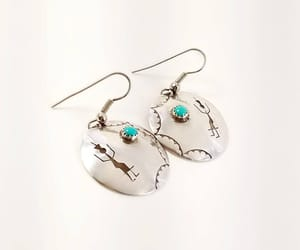 etsy, native american, and turquoise earrings image
