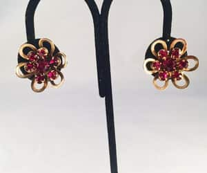 costume jewelry, pierced, and vintage jewelry image