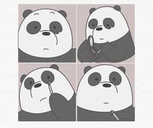 bear, panda, and we bare bears image